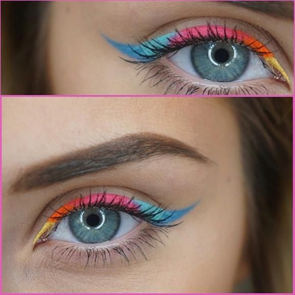 Waterproof Creme Colors. This is why you need all the colors!  Perfect for a day at the beach or pool. This takes rainbow to a whole new level.