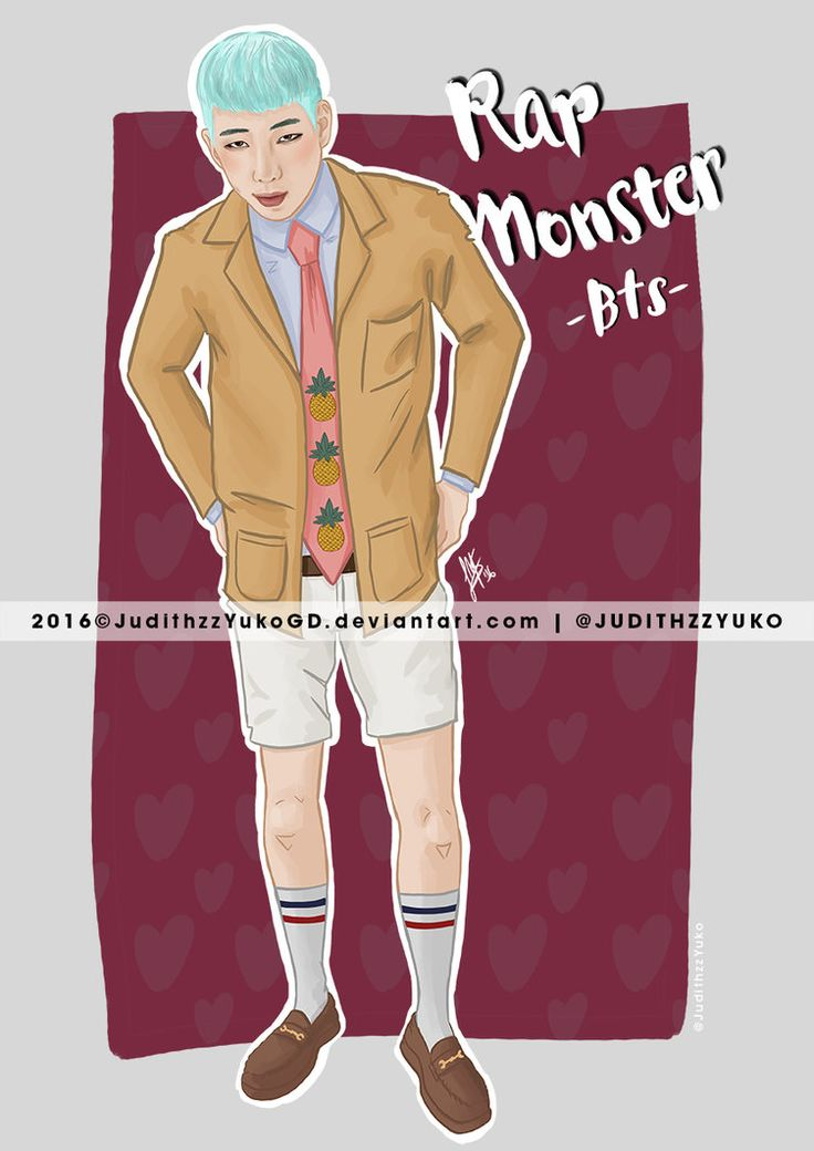 Rap Monster -BTS- by JudithzzYukoGD.deviantart.com on @DeviantArt