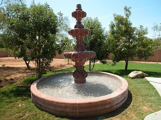 Hand Carved Natural Stone Fountain