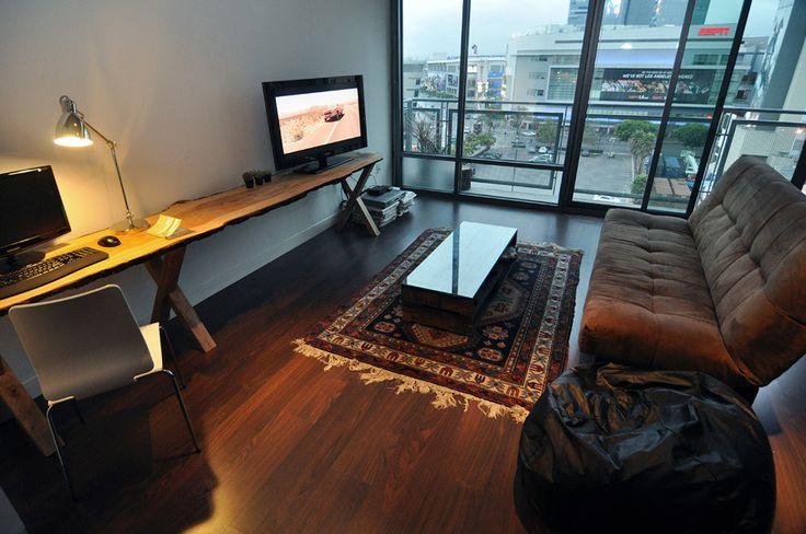 Дизайн интерьера для небольшой квартиры-студии от Ike Bahadourian