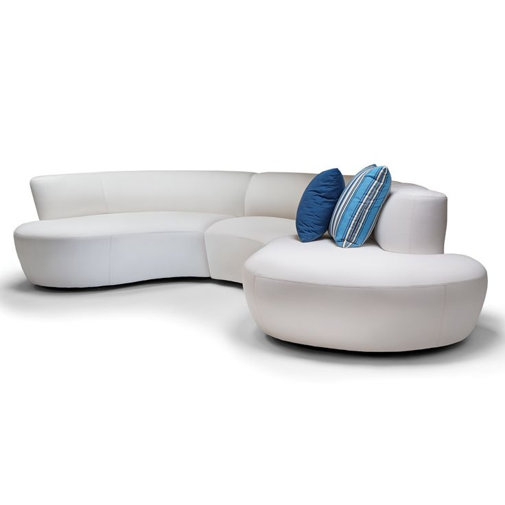 90 best Arc Sofau0027s images on Pinterest Couches, Sofa bench and - contemporary curved sofa