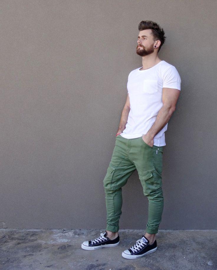 green jeans and white tee | Raddest Looks On The Internet: http://www.raddestlooks.net