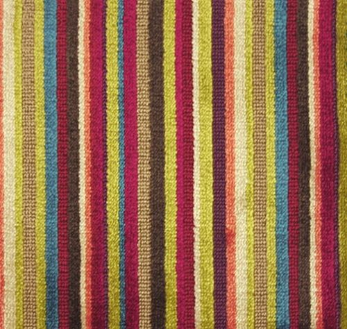 Scene Striped Velvet An Epingle Velvet In Multi Coloured