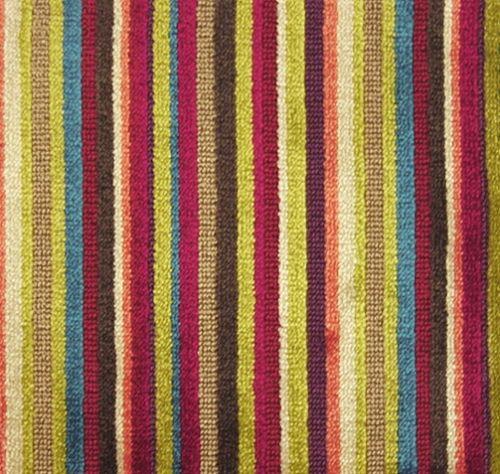 Scene Striped Velvet An Epingle Velvet In Multi Coloured