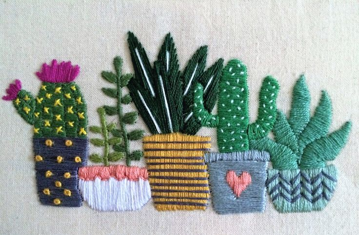 The best cactus embroidery ideas on pinterest