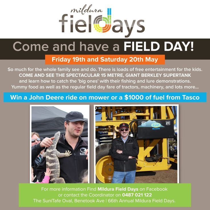 Do your kids love reptiles? See them up close and personal at the #Mildura Field Days!!