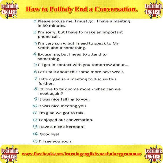 Forum | . | Fluent LandHow to Politely End a Conversation | Fluent Land