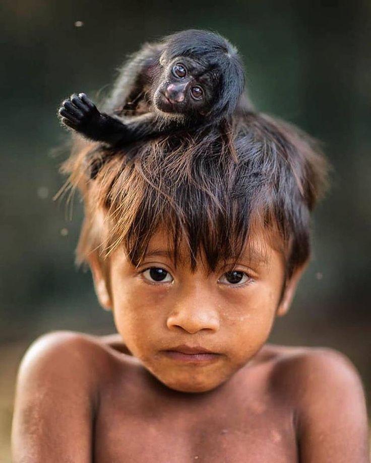 Человек с обезьянкой картинки новой семьей