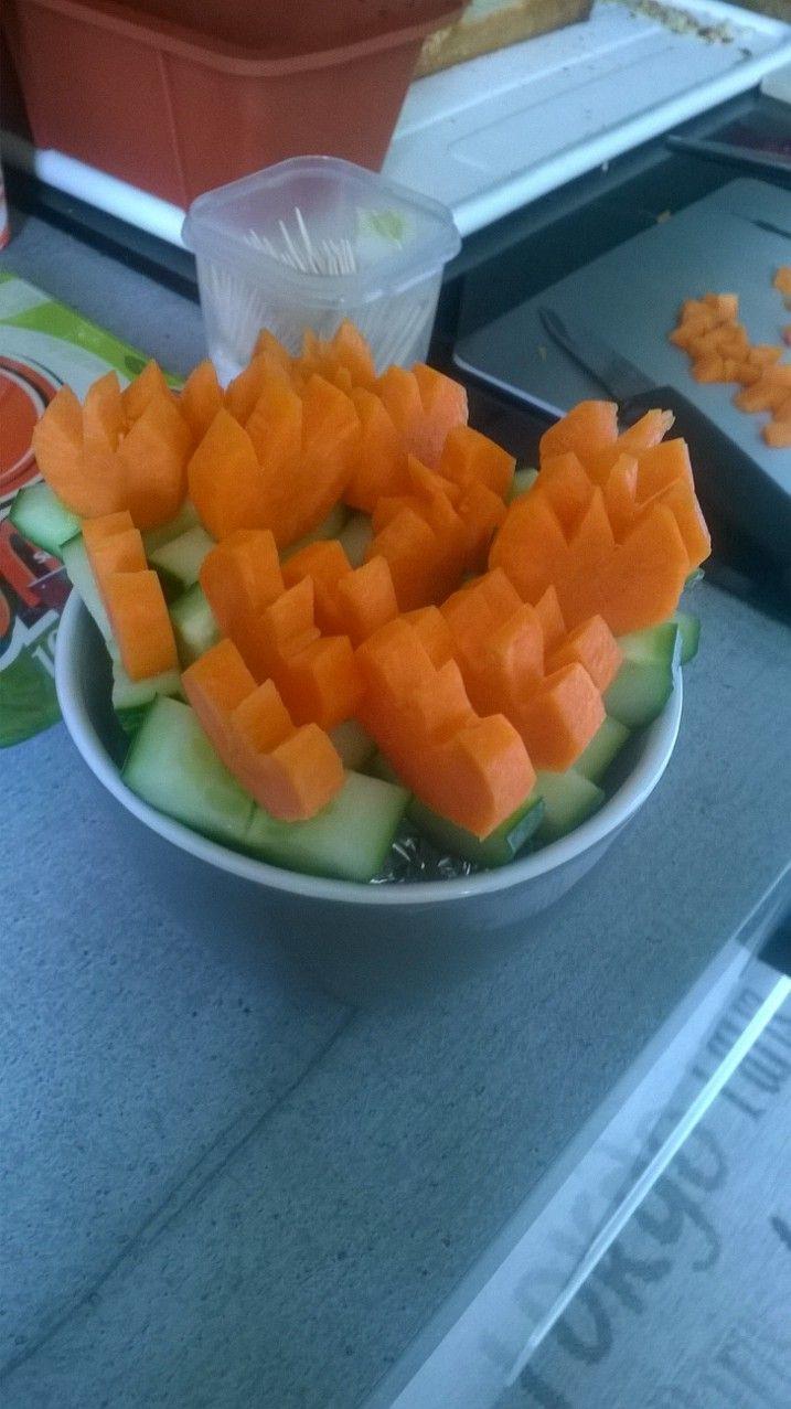 bouquet de tulipes carottes-concombre
