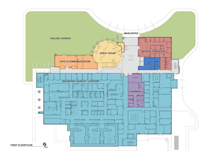 74 best hospital images on pinterest hospitals architecture and oncology center floor plans cancer center floor plan first floor 200x114 malvernweather Image collections