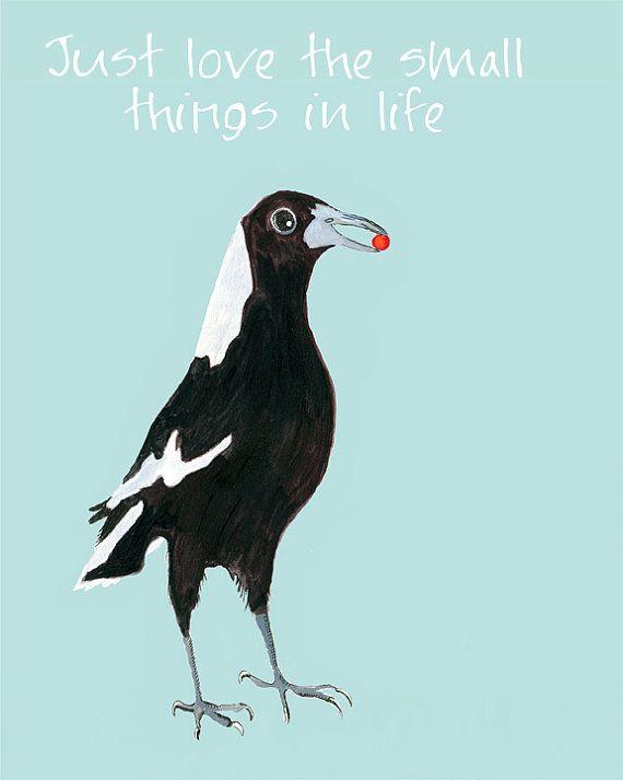 Acrylic Illustration Print animal painting by bellablackbird