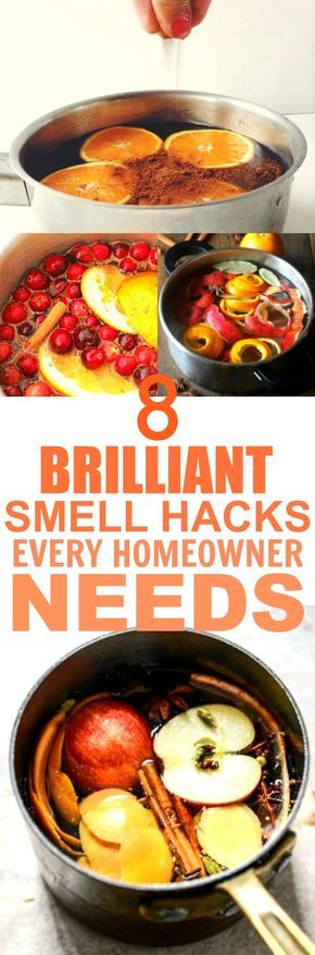 These 8 smell hacks are THE BEST! I'm so happy I found these AMAZING tips! Now I can make my home smell like Fall and the holidays! Definitely pinning for later!