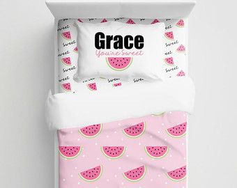 Sandía de niños personalizados ropa de cama cuna - niños sandía personalizada lecho - ropa de cama bebé - Set de edredón nórdico/edredón Kids - ropa de cama