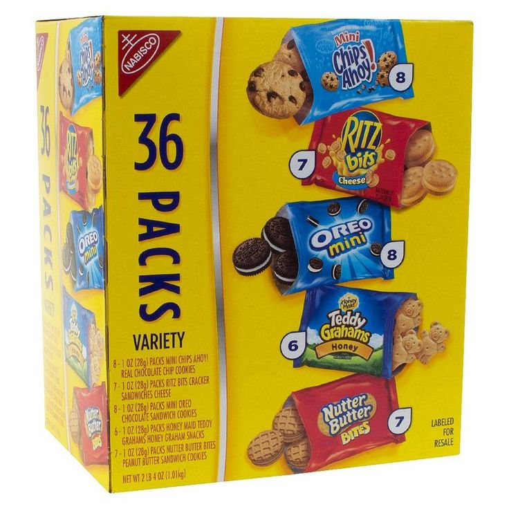 Nabisco Cookies and Crackers Snack Size Variety Pack 36 ct