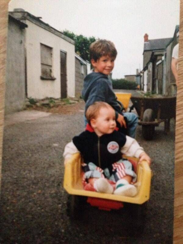 Niall Horan with brother Greg Horan as children