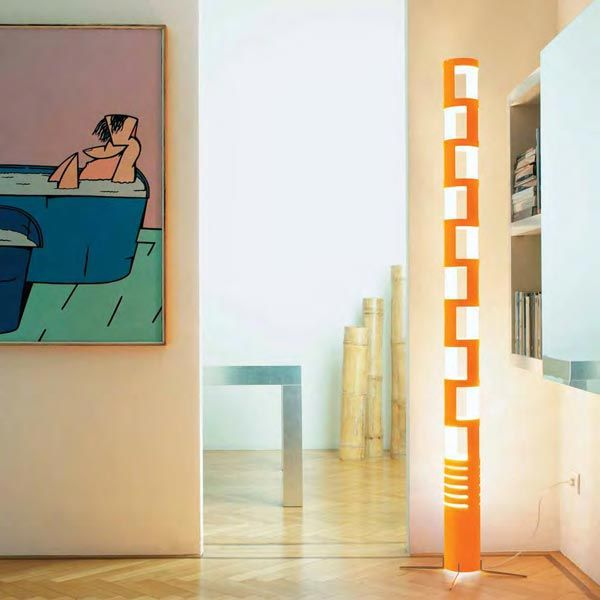Kundalini - Lampada Sama   Design: Gregorio Spini   Materiali: Plexiglas   #design #orange #lamp   http://illuminazione.webmobili.it/