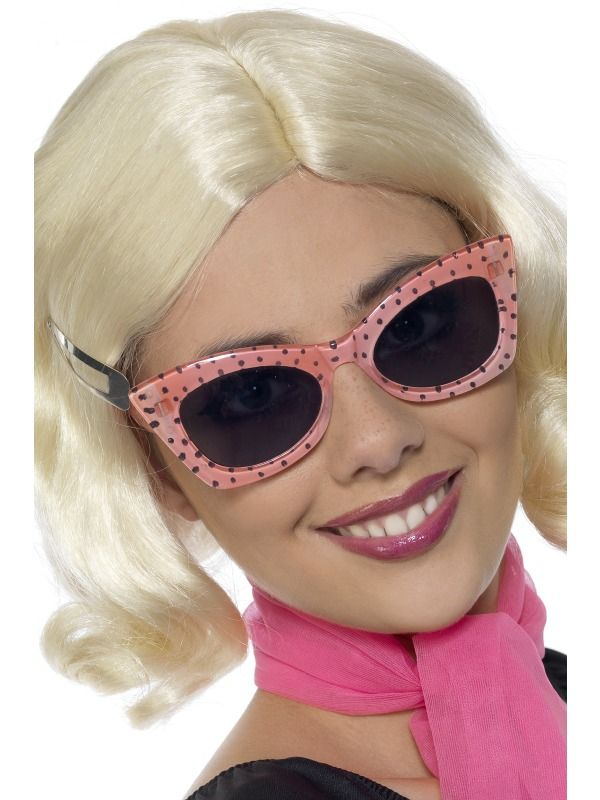 Pink Sunglasses 1950S Grease Pink Ladies Rock N Roll Fancy Dress by Home & Leisure Online (Fancy Dress) pZ80aOSeQp