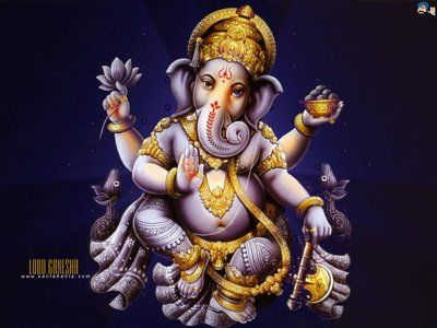 My favorite Hindu deity: Ganesha!  Remover of Obstacles. :)