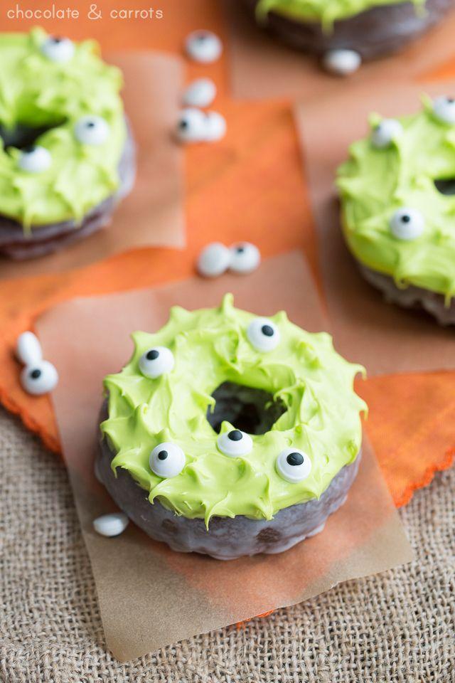Monster Donuts | chocolateandcarrots.com #halloween #eyes #spooky