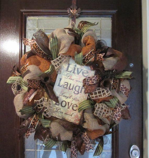 Custom Fall Wreath on Etsy