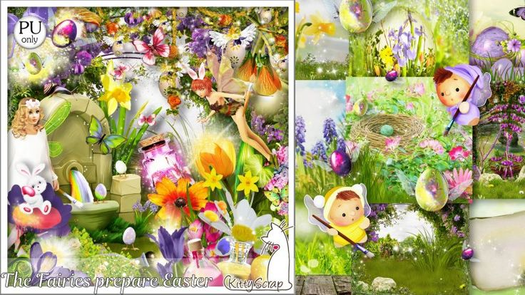 kit the fairies prepare easter by kittyscrap