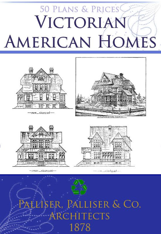 50 Victorian American Architecture House Designs & by HowToBooks