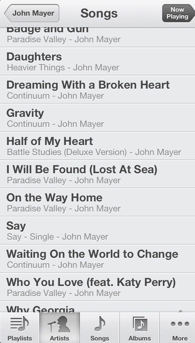 Best John Mayer songs