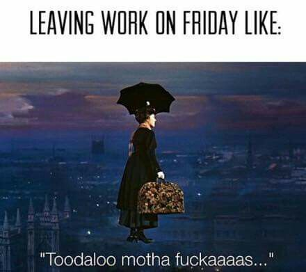 Friday leaving work