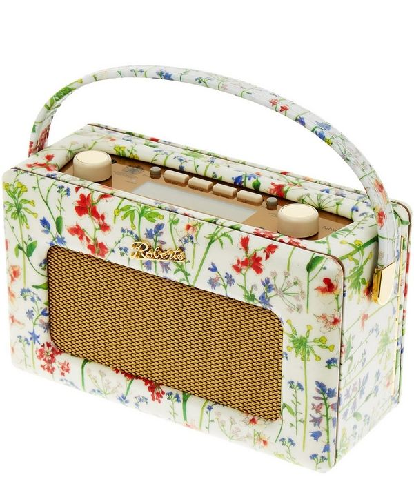 Fresh sounds meet vintage styling; Flowers of Liberty have given the iconic Roberts 'Revival' radio a heritage make-over in our quinessential floral prints.
