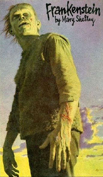 Frankenstein cover art by Jean-Leon Huens.