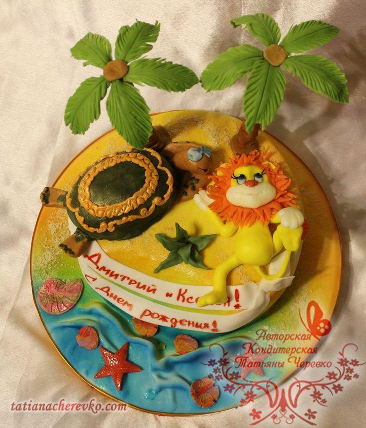 Торт черепаха на детский праздник