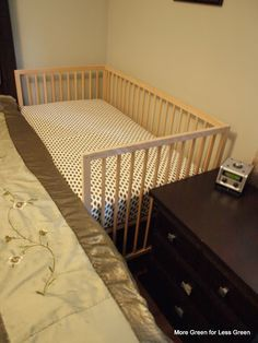 It is time for the last of my baby bedding series. This one is on the crib side-car, which is attaching a crib to an adult bed, like this… Many families who want this setup elect an Arm's Reach Co-...