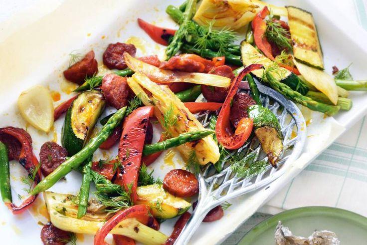 Kijk wat een lekker recept ik heb gevonden op Allerhande! Geroosterde asperges & chorizo