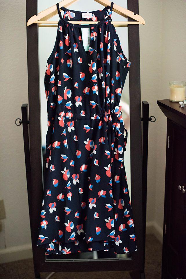 Stitch Fix Tammi Keyhole Dress- love halter styled dresses.