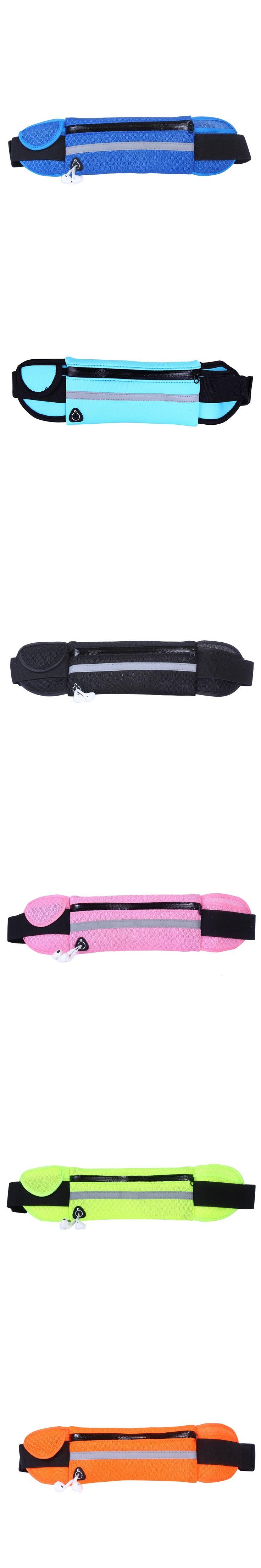 Man Women Waist Running bag Small Sport bag with earphone slot waterproof breathable small run bag  free shipping