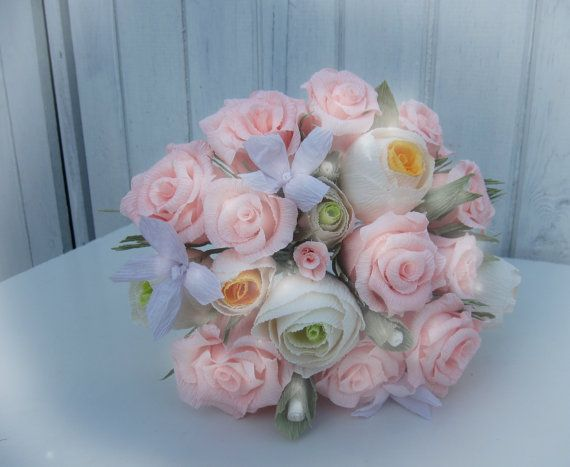 Your Style Personalized Wedding Bouquet Crepe by moniaflowers