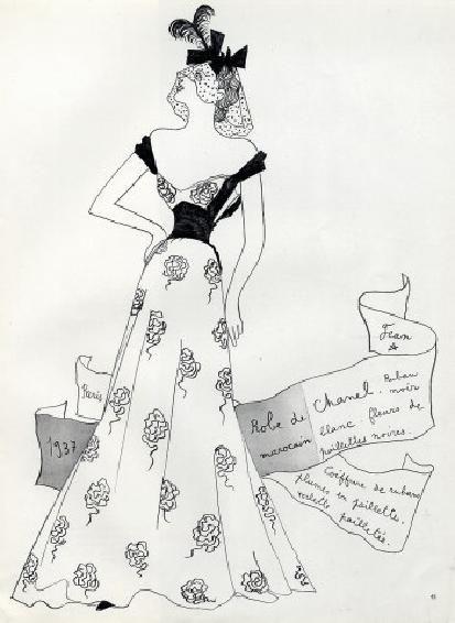 Jean Cocteau, Chanel Haute Couture, 1937