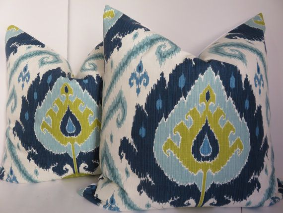 Includes One Pillow Cover, Insert is not included  -Size: 24x24/22x22  -Color: Blue, aqua, white and cream  -Those Pillows are designer quality,