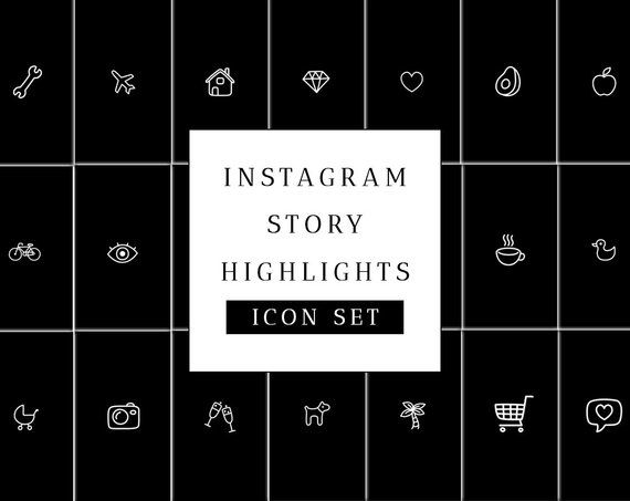 Instagram Story Highlight Icons Set - Black Instagram