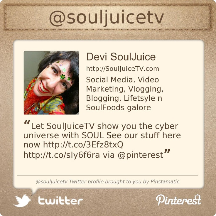 @souljuicetv's Twitter profile courtesy of @Pinstamatic (http://pinstamatic.com)