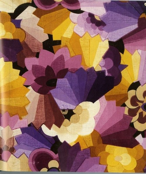 Fall color inspiration Floral and Geometric All-Over by Anonymous (1930) via joycemiddaugh