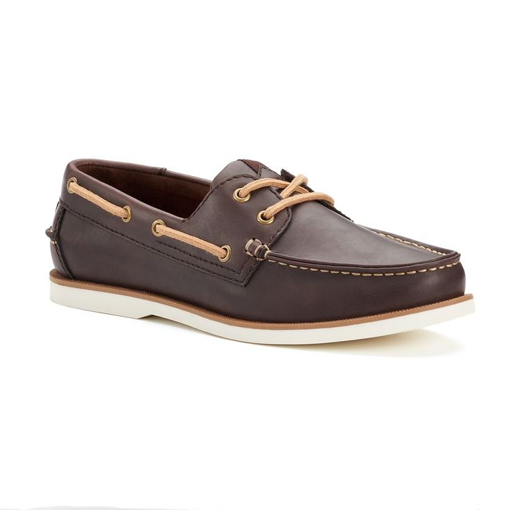 SONOMA Goods for Life™ Men's Lace-Up Boat Shoes, Size: 10.5, Dark Brown
