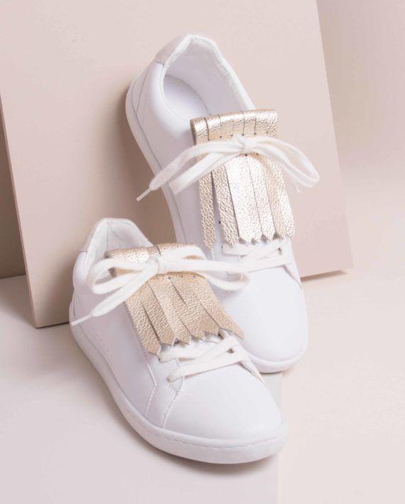 Les franginettes sont des languettes de cuir de vachette qui s'adaptent sur tous types de chaussures à lacets, elles viendront embellir vos baskets comme vos derbies.  Vendues pas paire