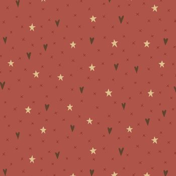Hometown Holiday - Stars & Hearts in Light Red (8144-22)