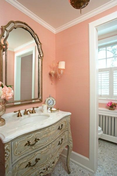 Shabby Chic I Love The Wall Color Mirror And Dresser