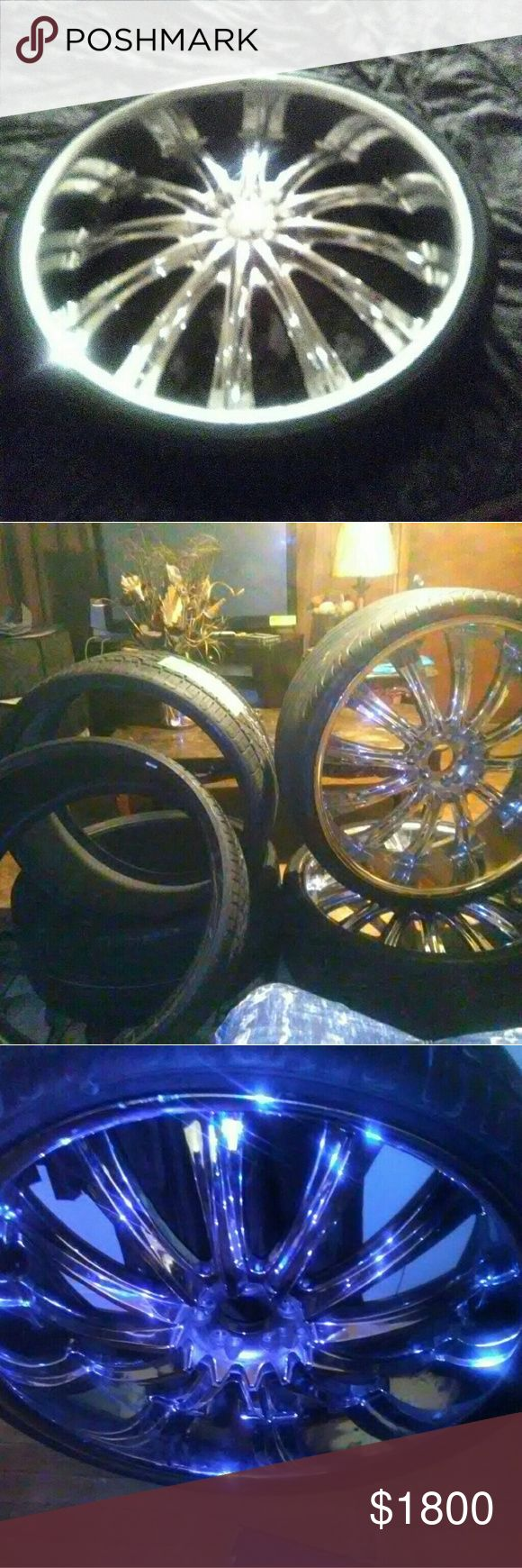 26 inch rims Need one center cap got a few scratches. bentchi Other