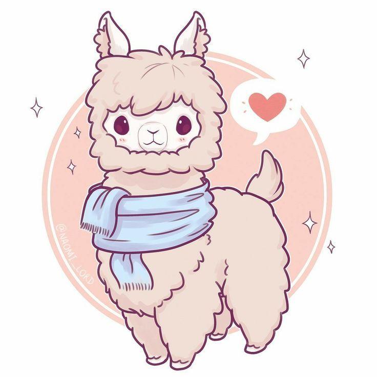 Llama In 2019 Niedliche Zeichnungen Kawaii