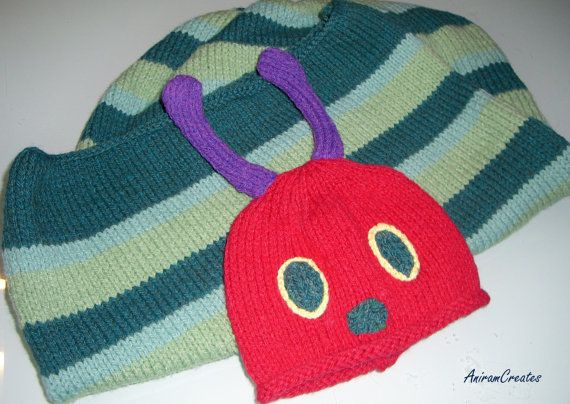 The Very Hungry Caterpillar Hand knitted baby by AniramCreates, £30.00