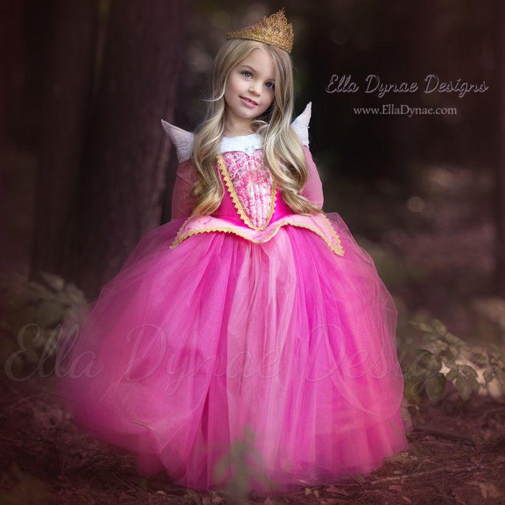 Sleeping Beauty Aurora Costume Pink Blue Dress by EllaDynae
