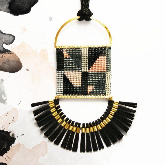 TASSEL NECKLACE tassel jewelry ethnic by polijewellery on Etsy